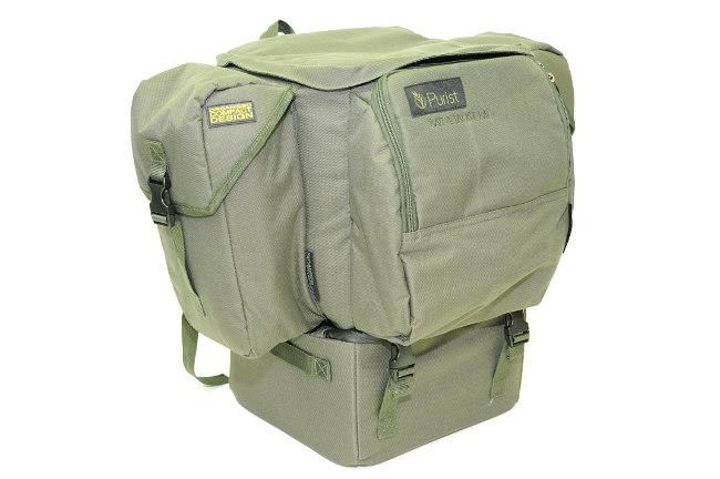 Purist Bait & Tackle Bag: Rucksack mit Ködertasche zum Anclipen. (Fotos: W. Kalweit)